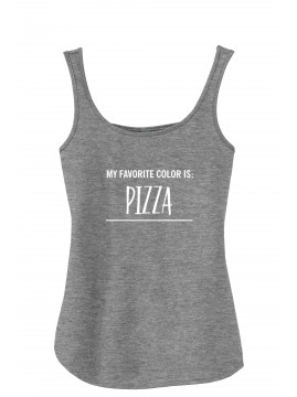"""Women's """"My Favorite Color is Pizza"""" Tank"""